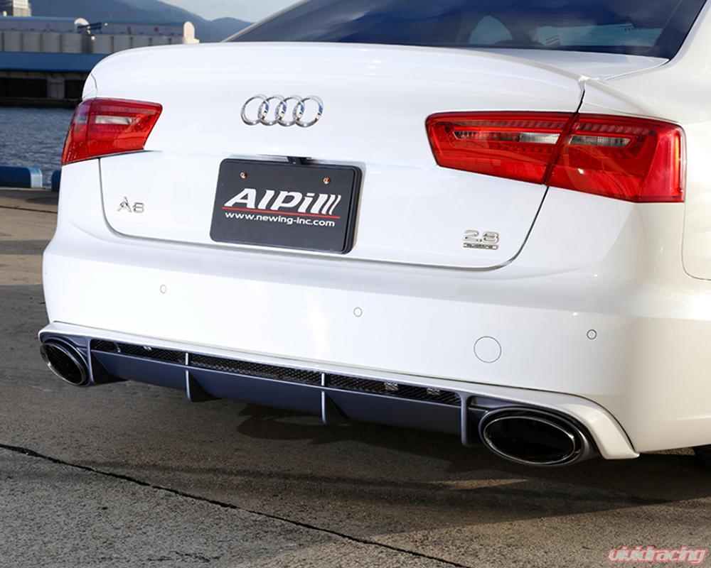 Alpil Rear Diffuser w/Exhaust Tip Audi A6 15-17