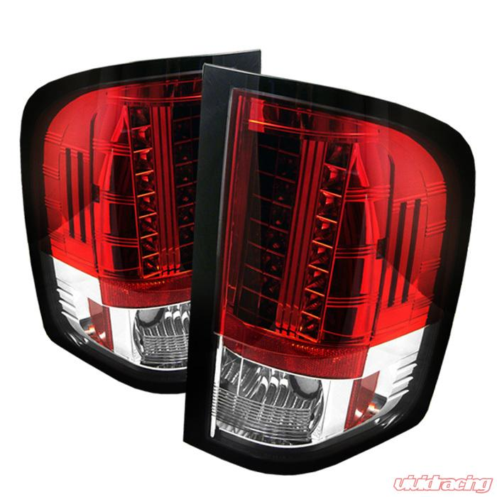 Spyder Led Red Clear Tail Lights Chevrolet Silverado 1500
