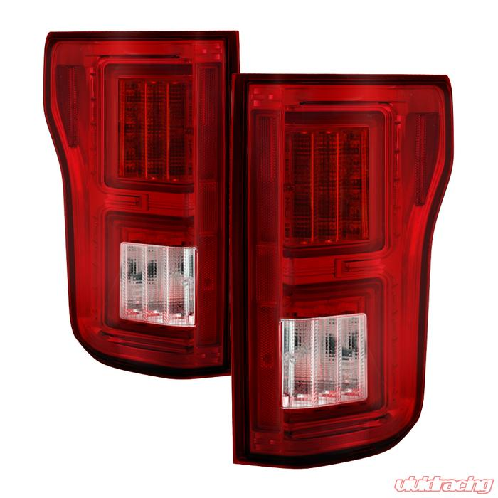 Spyder Auto Light Bar Led Tail Lights Red Clear Ford F