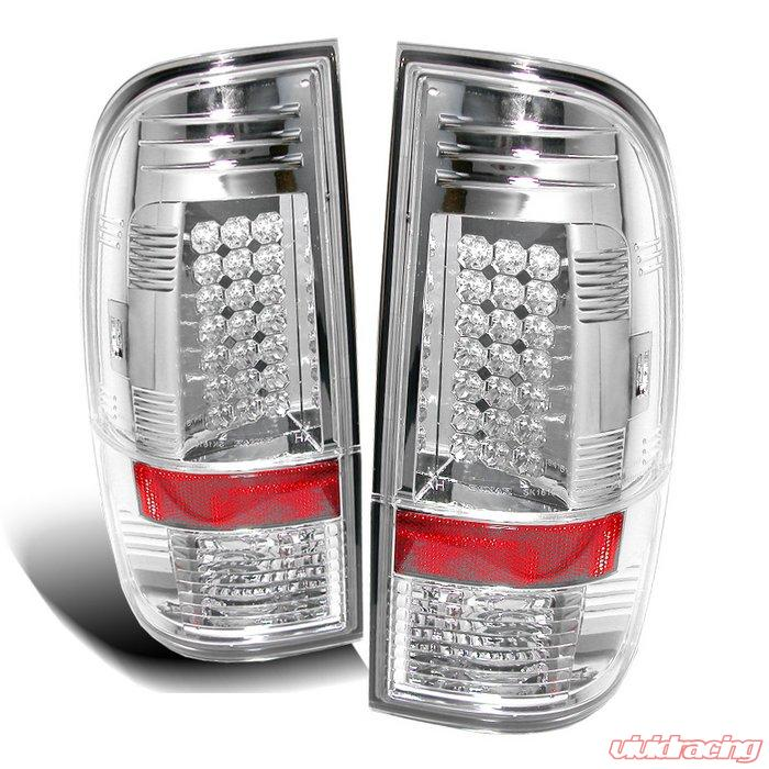 Spyder Led Chrome Tail Lights Ford F250 350 450 550 Super Duty 08 09
