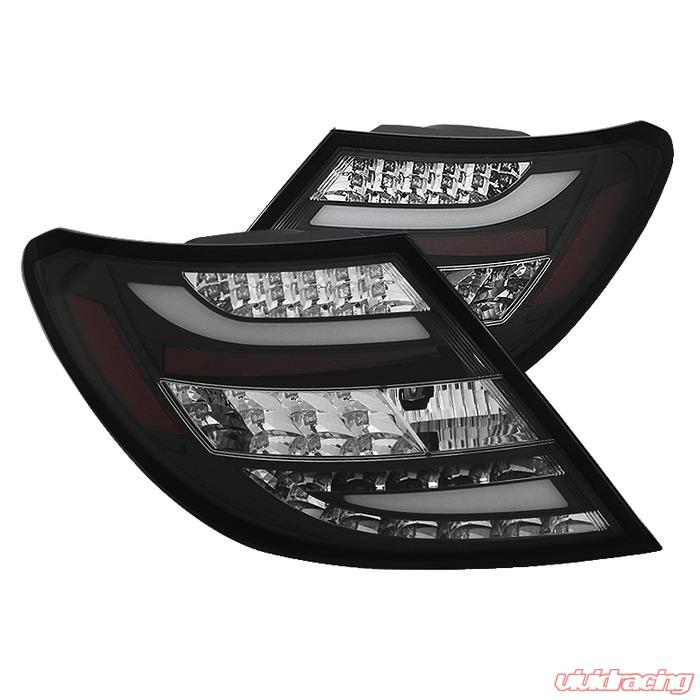 Spyder Auto Black LED Taillights Mercedes Benz W204 C300 with LED Lights  11-14