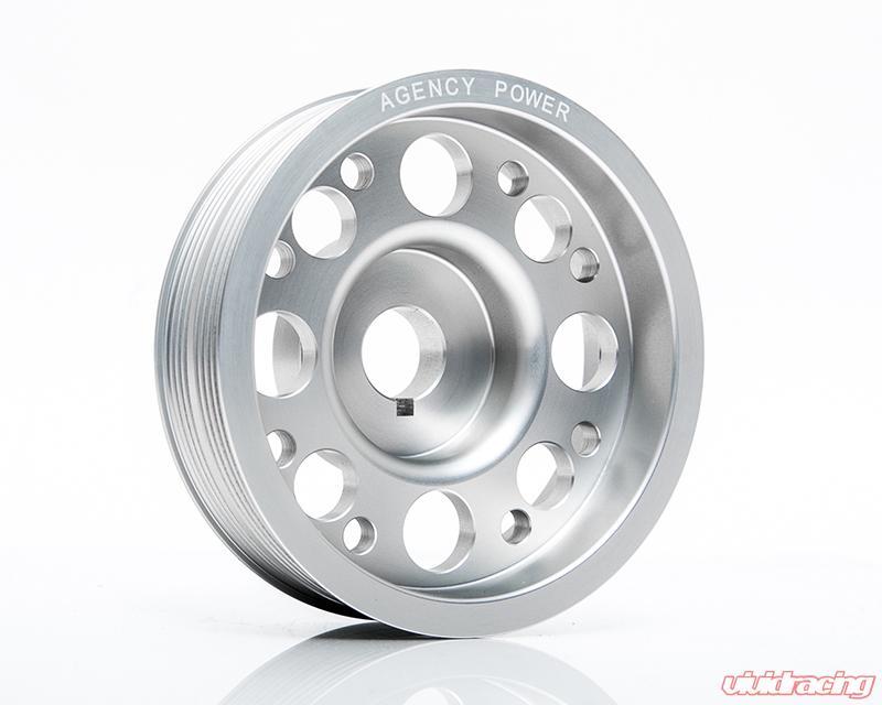 Agency Power Lightweight Silver Crank Pulley Subaru WRX/STI 02-07
