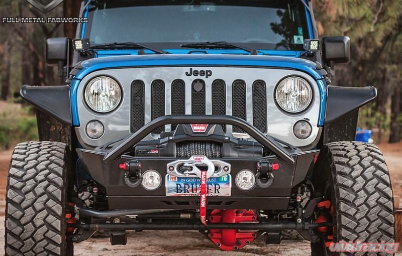 Jeep Wrangler Jk Front Bumper >> Full Metal Fabworks Apex Pinnacle Series Bare Stubby Front Bumper W Stinger Gussets Jeep Wrangler Jk