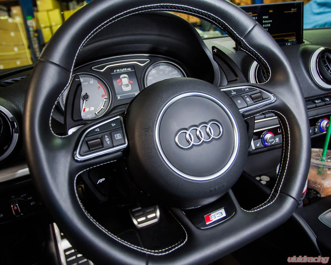 Agency Power Paddle Shifter Extensions Black Audi All Models 15-20