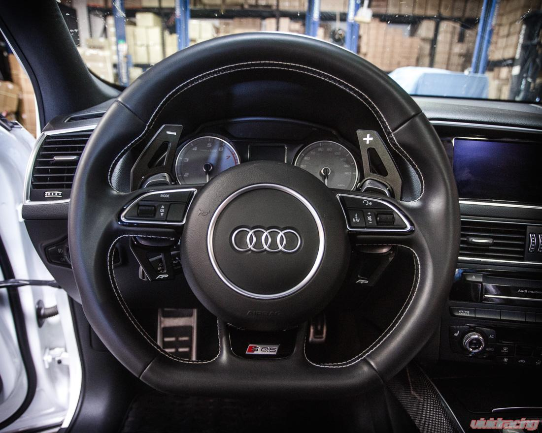 Agency Power Paddle Shifter Extensions Black Audi S and RS