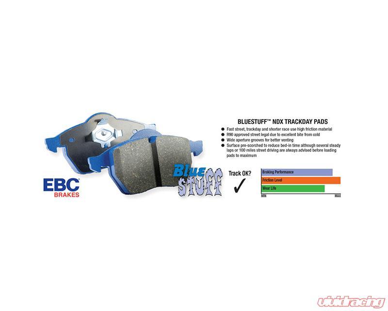 EBC BLUESTUFF BRAKE PADS FRONT DP5689NDX TRACK, SPORT, RACE