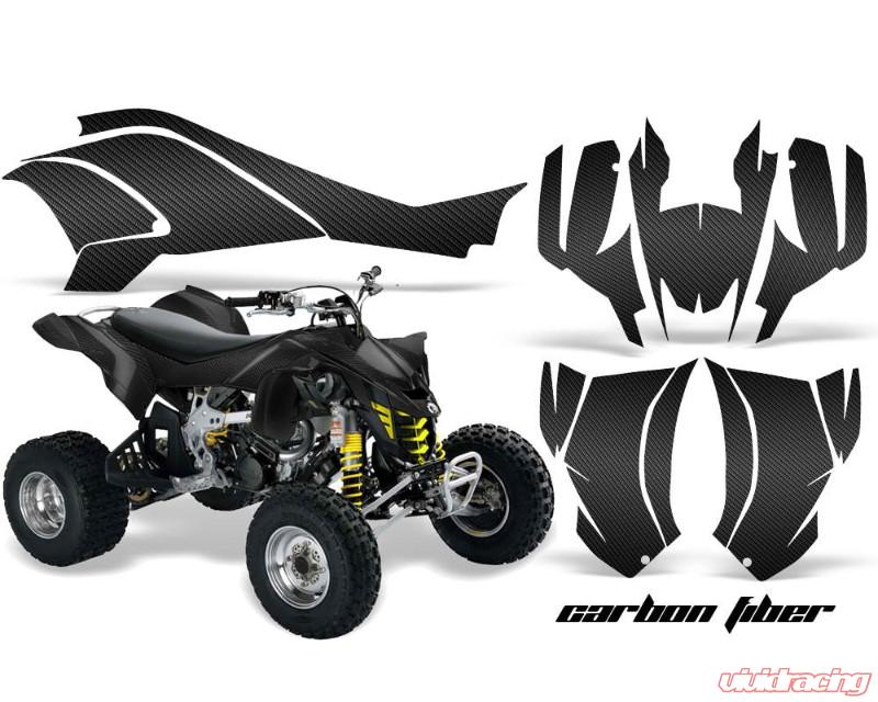 Can Am Ds 450 >> Amr Racing Graphics Kit Quad Decal Wrap Carbon Fiber Can Am Ds450 Xmx Xxc 08 16