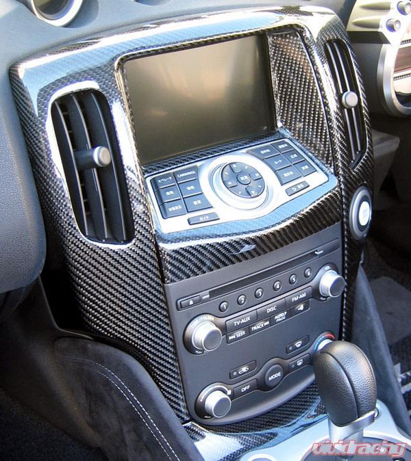 central 20 interior trim radio surround carbon nissan. Black Bedroom Furniture Sets. Home Design Ideas