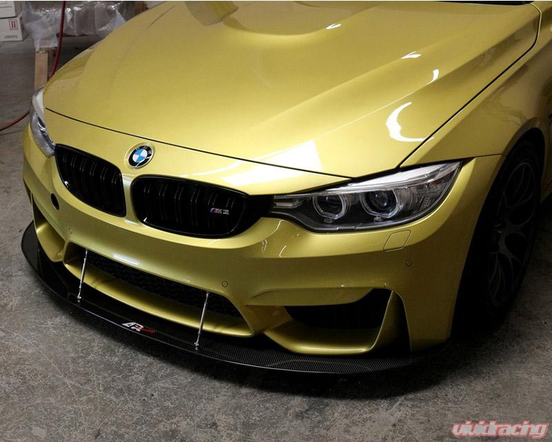 APR Performance Carbon Fiber Front Splitter with Rods for Factory Front  Bumper BMW F82 M4 15-20