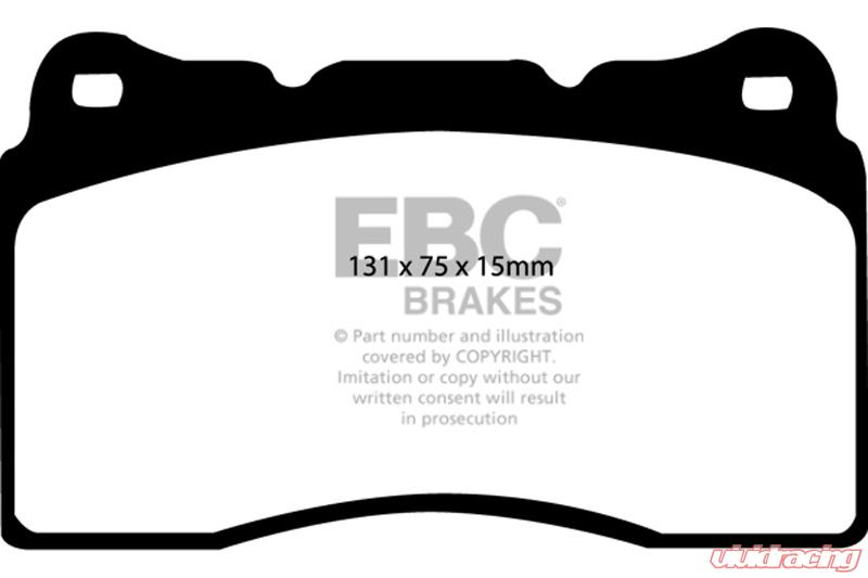 Ebc Brakes Ultimax Oem Plus Front Disc Brake Pad Set Fmsi D1049 Front