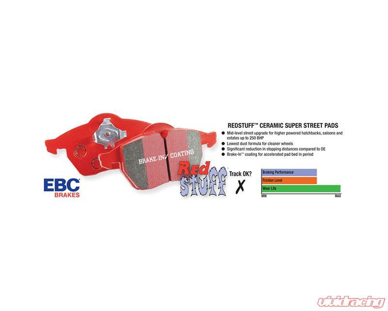 For BMW X5 EBC Brakes DP32091C Redstuff Ceramic Low Dust Front Brake Pad Set