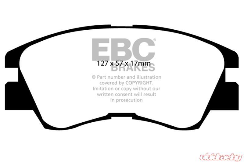EBC Brakes Greenstuff Street sport FRONT Disc Brake Pad Set FMSI D349  Mitsubishi Front