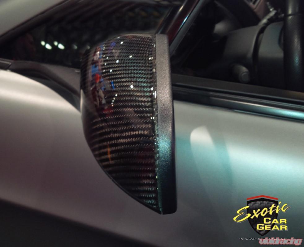 Exotic Car Gear Carbon Fiber 2pc Mirror Covers Aston Martin Vantage V12 06 09 Ecg Am Vmce
