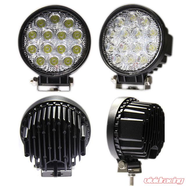 Super Engo 4 Inch Led Work Lights Rw Series Round 42 Watt Led Single Wiring Digital Resources Funapmognl