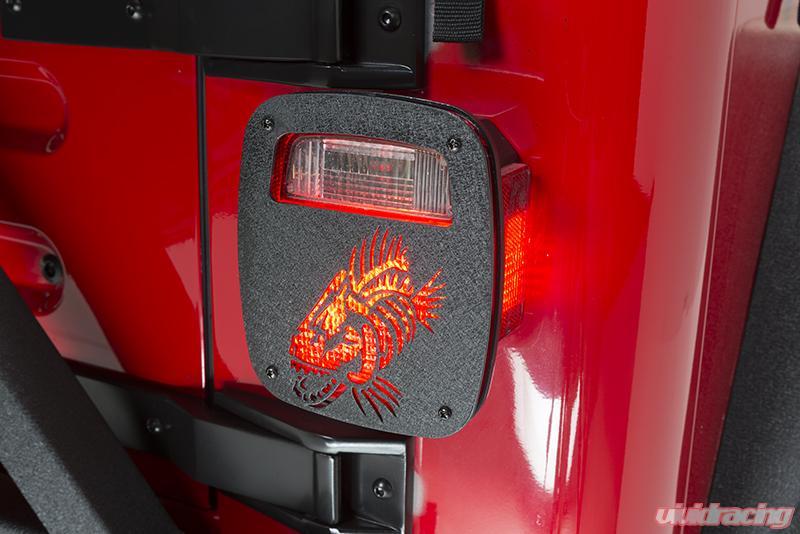 tail covers jeep wrangler yj tj offroad unlimited cj rubicon fishbone powdercoat textured