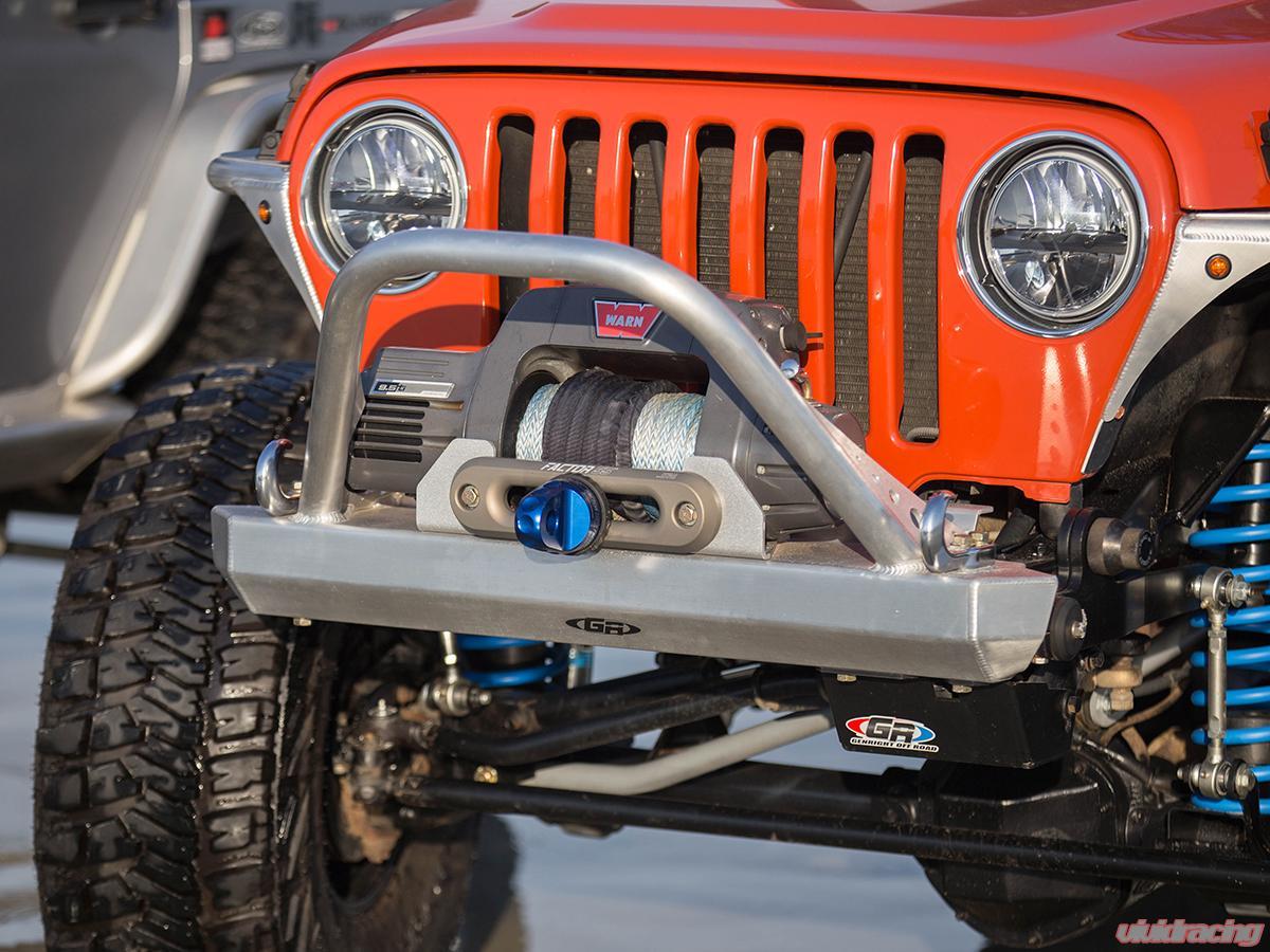 Fbb 2245 Genright Offroad Jeep Winch Guard 97 06 Wrangler Tj Lj Rear 2008 Front Bumper Aluminum Bare