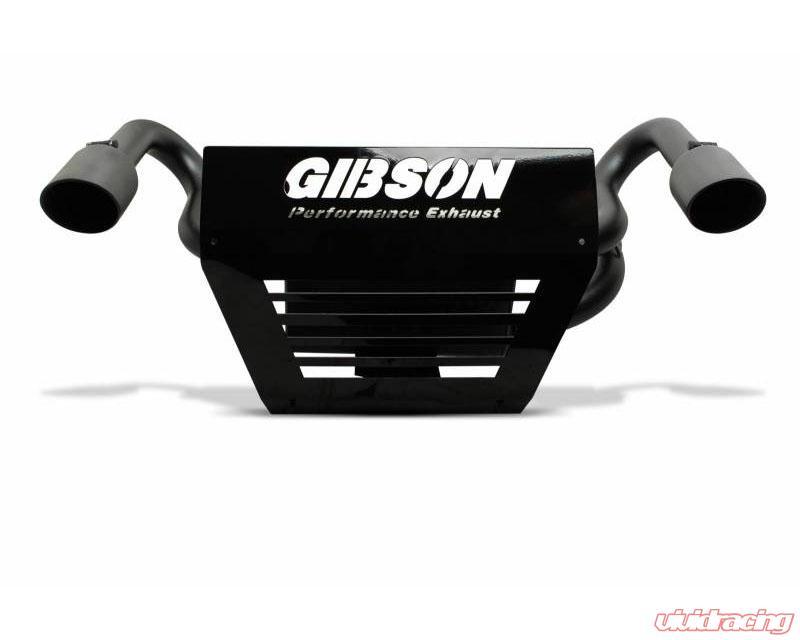 gibson performance black ceramic slip on dual muffler exhaust with 4 inch intercooled slash tips can am maverick x3 2017 2021