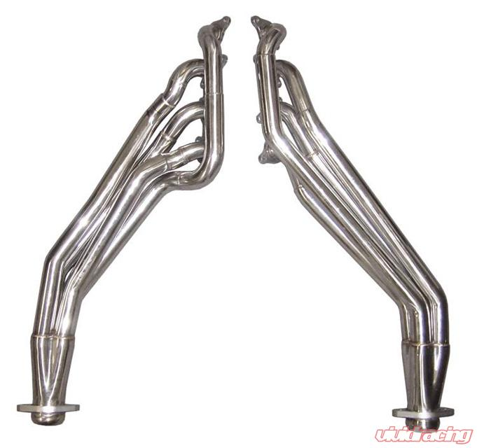 Exhaust Header Long Tube W Off Road X Pipe Hardware Incl Polished 304 Stainless Steel Pypes Exhaust