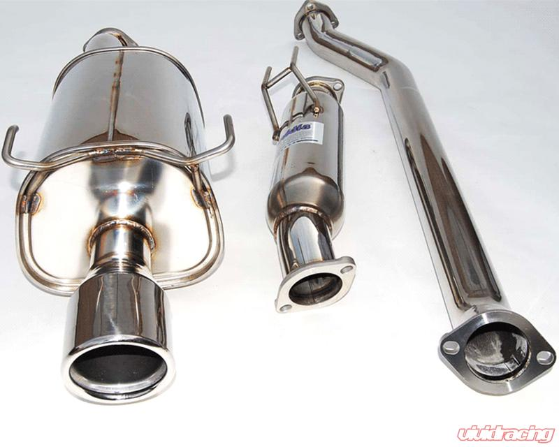HSTSXGT Invidia Q Catback Exhaust W Twin Outlet Rolled - Acura tsx exhaust