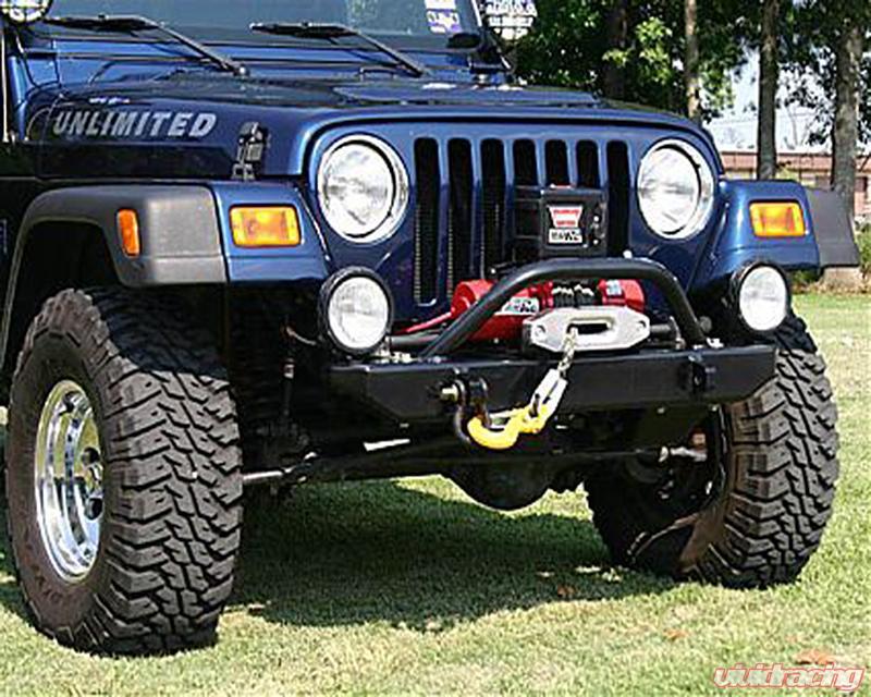 Black Tubular Front Bumper Hoop 87-96 Jeep Wrangler