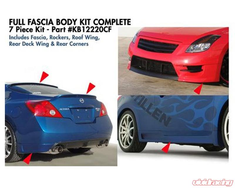 Nissan Altima Coupe >> Stillen Complete 7 Piece Body Kit With Fascia Roof Deck Wing Nissan Altima Coupe 08 09