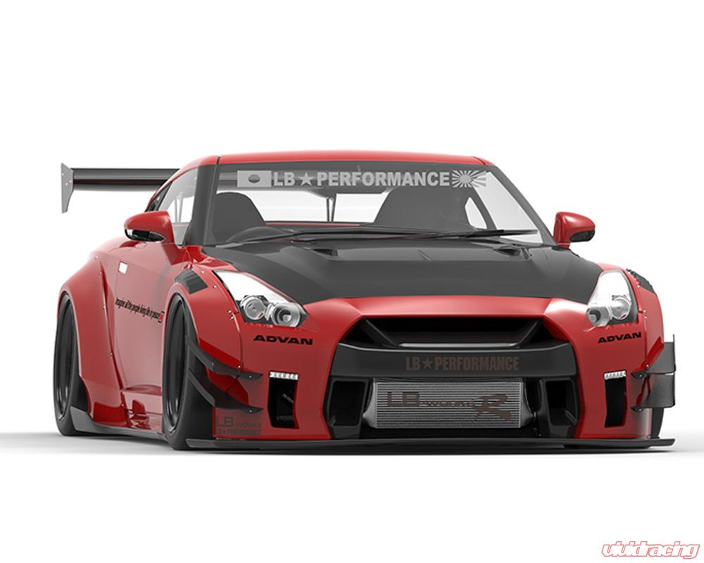 Lbw gtr2 001 cfrp liberty walk type 2 cfrp complete body for Nissan gtr bodykit