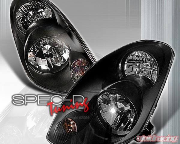Specd Black Housing Headlights Infiniti G35 Sedan 03 04 Lh G3503jm Ks