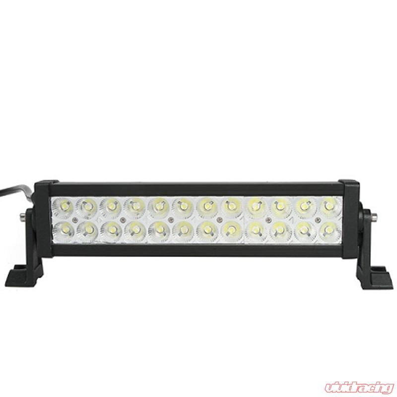 13 Inch LED Light Bar Dual Row 24 LEDS Flood Pattern Lifetime LED Lights
