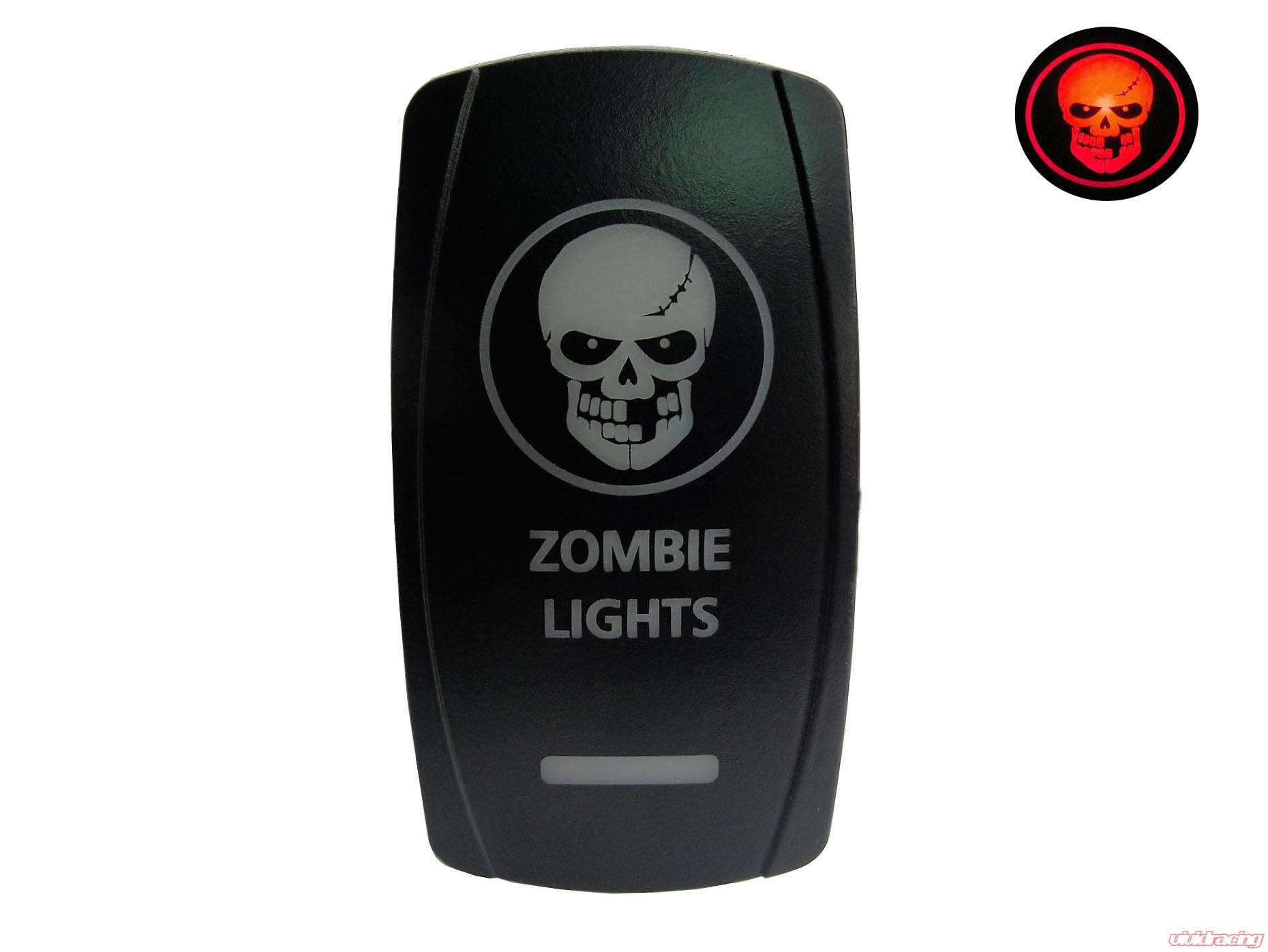 Lighted Toggle Switch (Zombie DPDT Toggle Switch) Lifetime LED Lights -  LLLDPDT40001Zombie