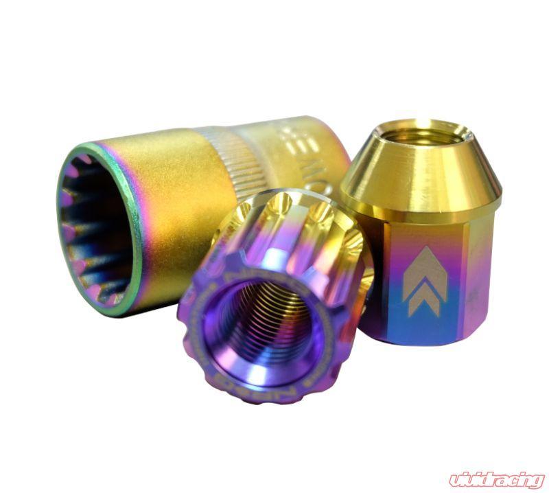 Adapter Key 4x Lock NRG Innovations LN-T200SL-21 M12 x 1.5 16Pcs 27mm Open-End Lug Nut LED Keychain Flashlight