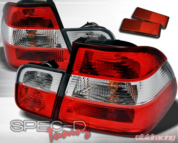 Specd Red Clear Euro Tail Lights Bmw 3 Series E46 00 03 4d