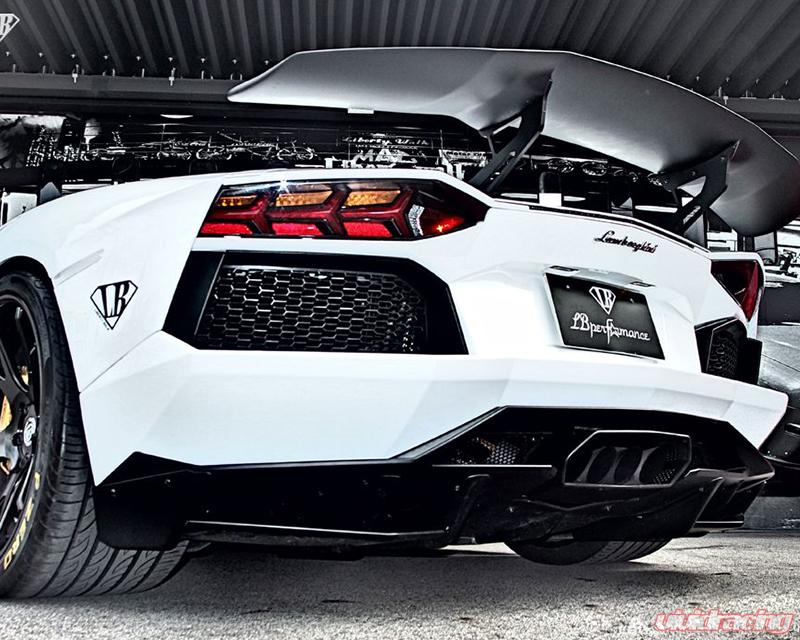 Liberty Walk Rear Diffuser Version 1 Frp Lamborghini Aventador 12 15