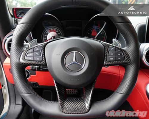Mb 0203 Autotecknic Carbon Fiber Steering Wheel Trim Mercedes Benz C117 Cla45 Amg 14 17