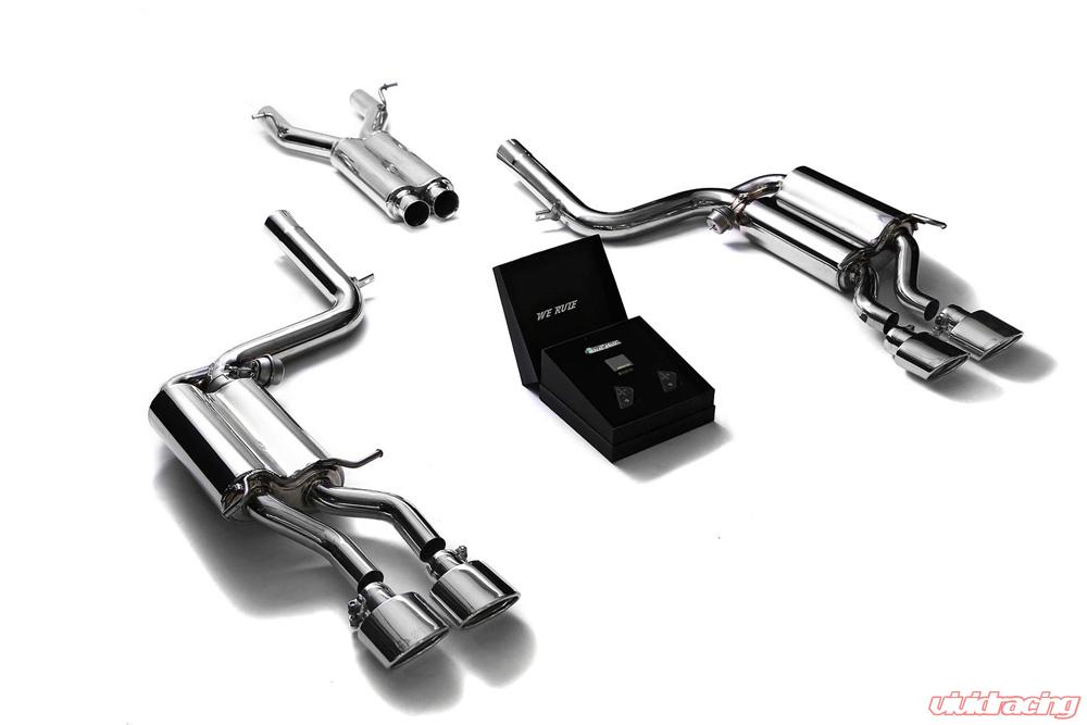 ARMYTRIX Stainless Steel Valvetronic Catback Exhaust System Quad Chrome  Tips Mercedes Benz C63 AMG W204 08-14