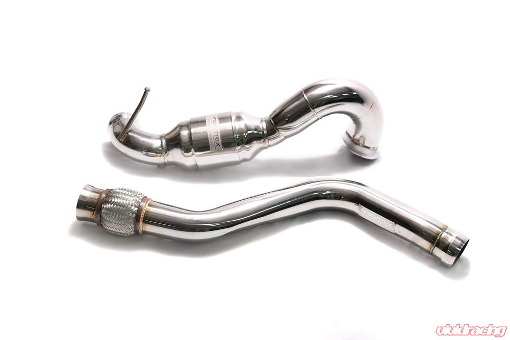 Mba45 dd armytrix high flow performance race downpipe for High performance parts for mercedes benz