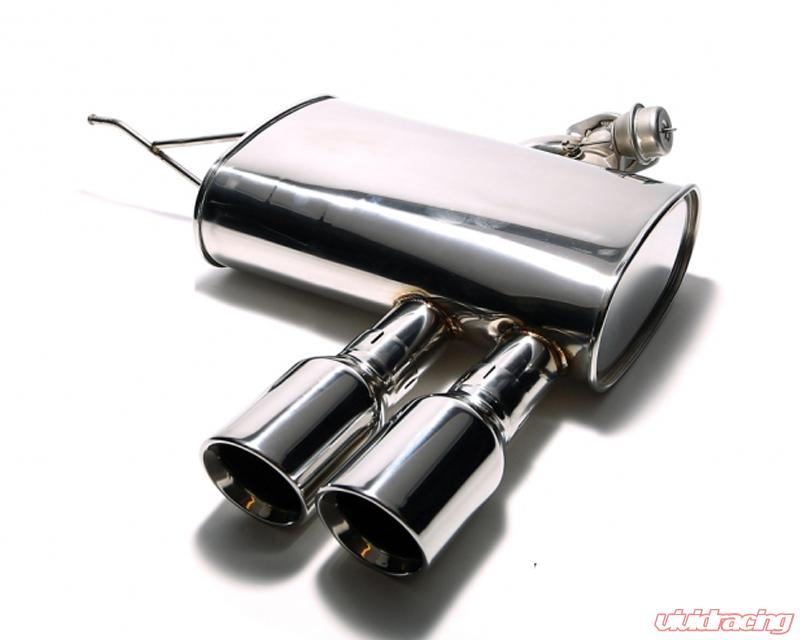 Armytrix Stainless Steel Valvetronic Catback Exhaust System Dual Chrome Silver Tips Mini Cooper S F56 14: Mini Cooper Stainless Exhaust At Woreks.co