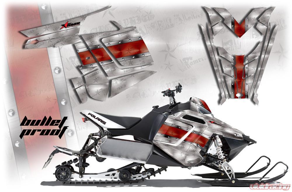 AMR Racing Graphics Sled Graphics Kit Decal Sticker Wrap Bullet Proof  Polaris Pro RMK Rush 11-16