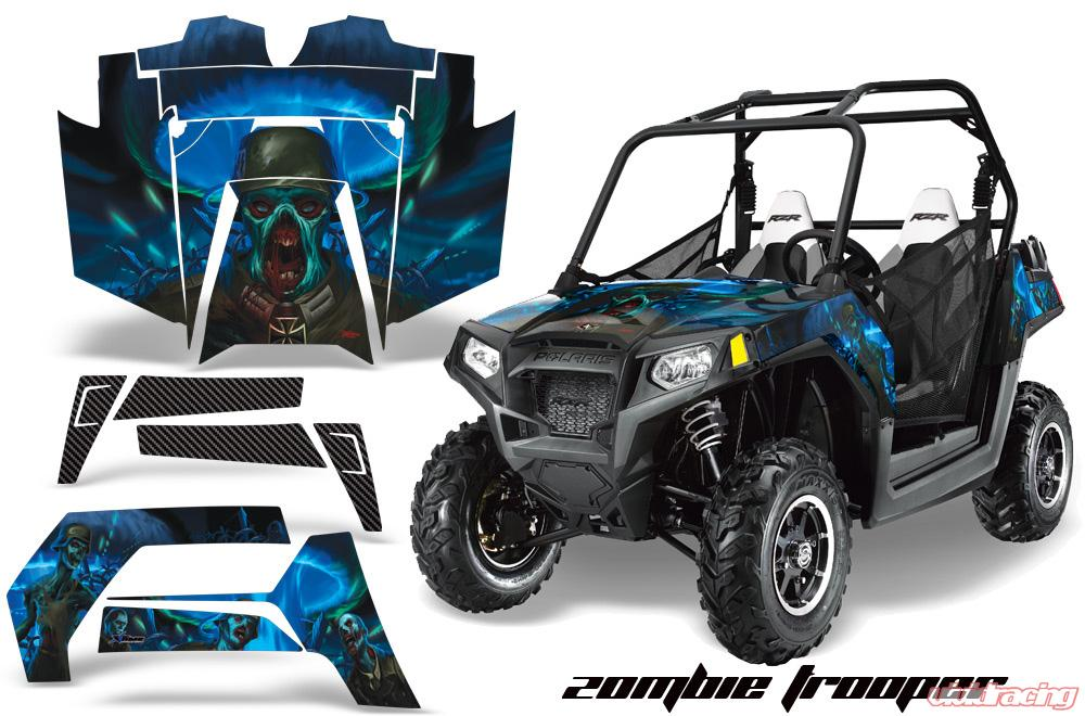 Amr racing full custom utv graphics decal kit wrap zombie polaris rzr 800 11 14