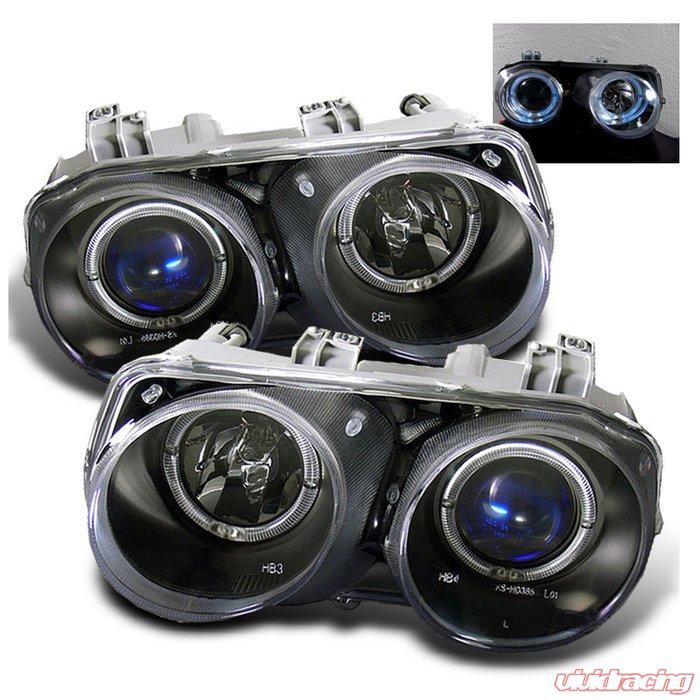 Spyder Halo JDM Black Projector HeadLights Acura Integra 94-97