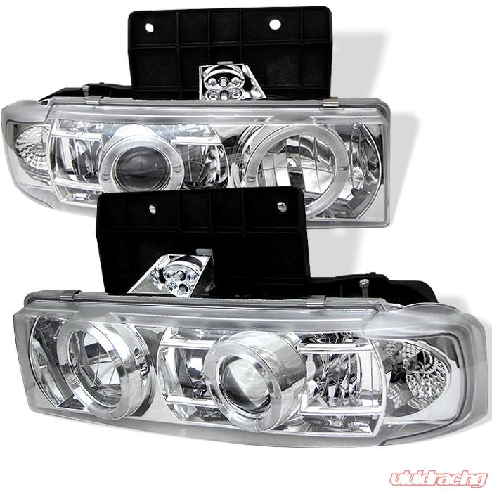 Spyder Auto Chrome LED Halo Projector Headlights Chevrolet Astro 95-05