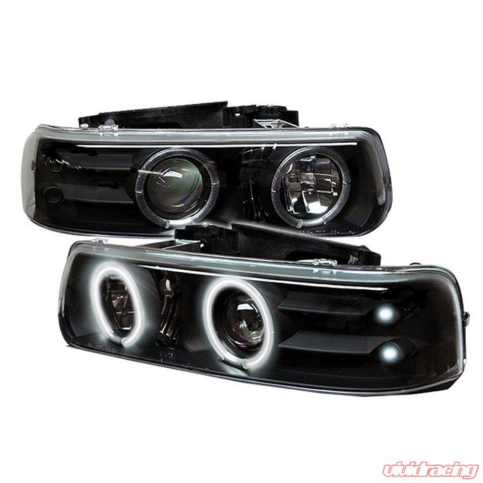 Spyder Ccfl Led Black Projector Headlights Chevrolet Silverado 1500 2500 3500 99 02 Pro