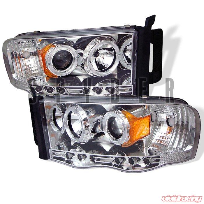 Spyder Halo LED Chrome Projector HeadLights Dodge Ram 1500 2500 3500 02-05