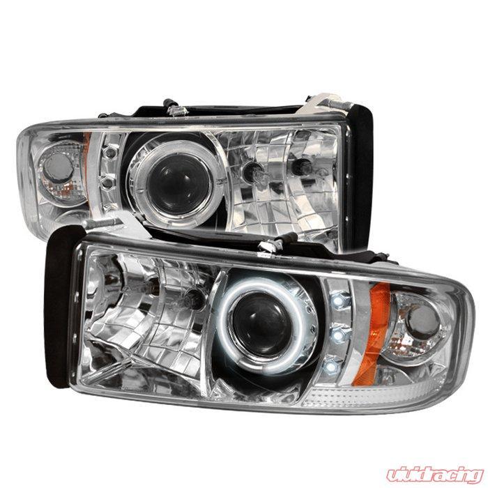 Spyder 1pc Ccfl Led Chrome Projector Headlights Dodge Ram 1500 2500 3500 94