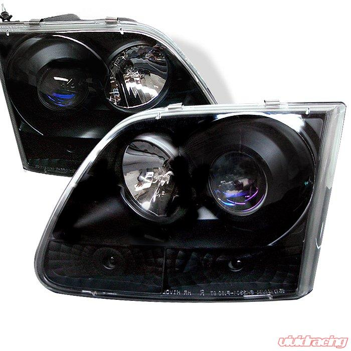 Spyder Halo Black Projector HeadLights Ford F150 97-03 Expedition 97-02
