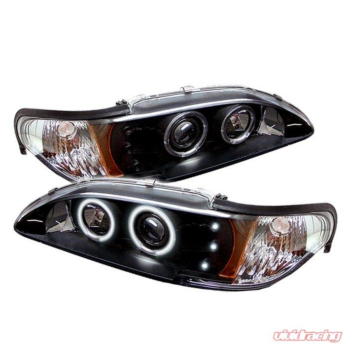 Spyder 1pc Ccfl Led Black Projector Headlights Ford Mustang 94 98 Pro Yd