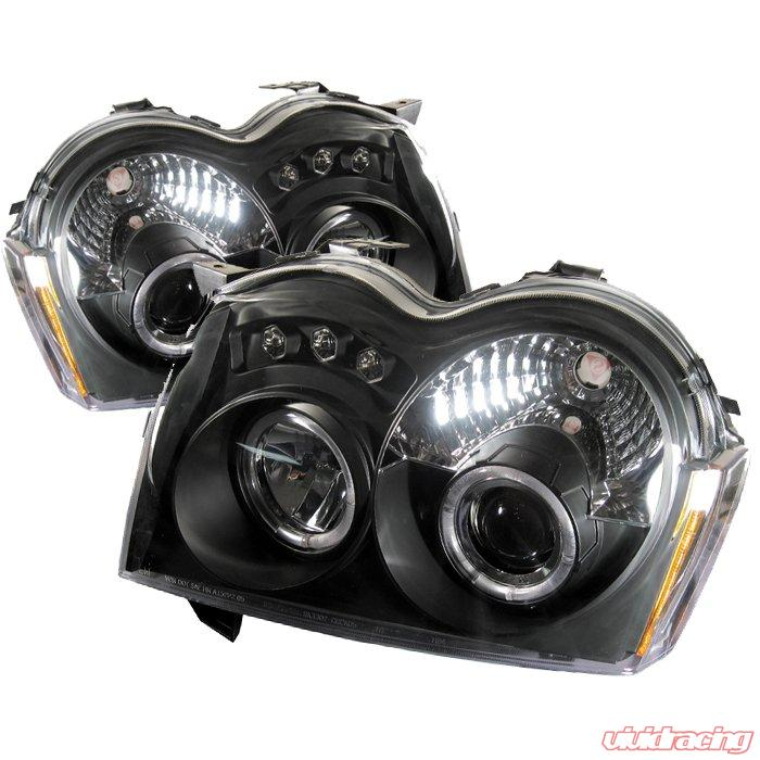 Spyder Halo Led Black Projector Headlights Jeep Grand Cherokee 05 08 Pro Yd