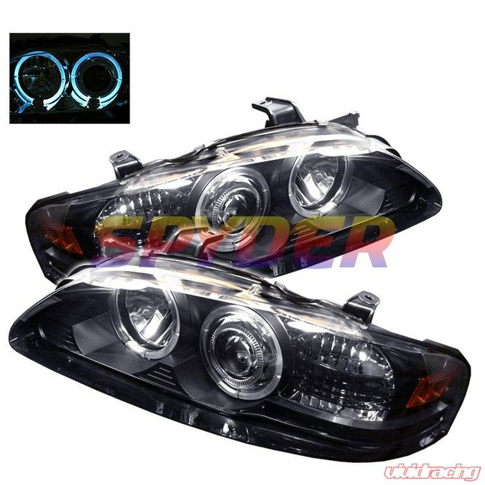 Spyder 1pc Halo Led Black Projector Headlights Nissan Sentra 00 03 Pro Yd