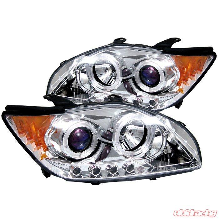Scion Tc Headlights >> Spyder Halo Led Chrome Projector Headlights Scion Tc 05 10