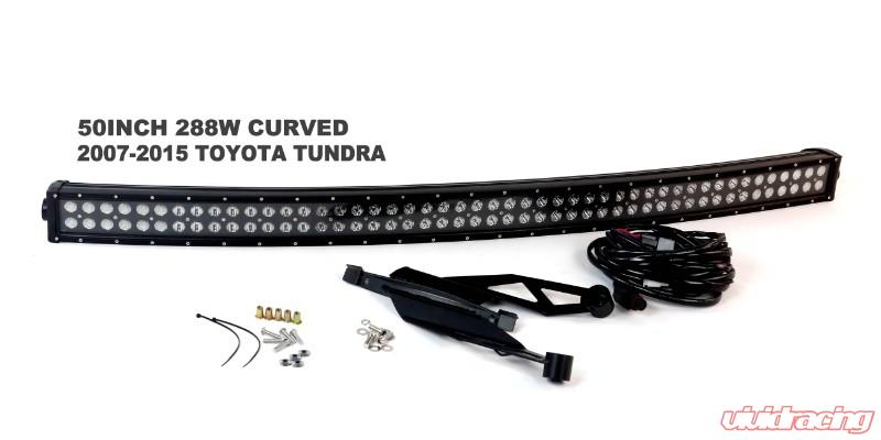 50/'/' 288W CURVED LED LIGHT BAR+MOUNT BRACKET FOR 07-14 TOYOTA TUNDRA+WIRING KIT