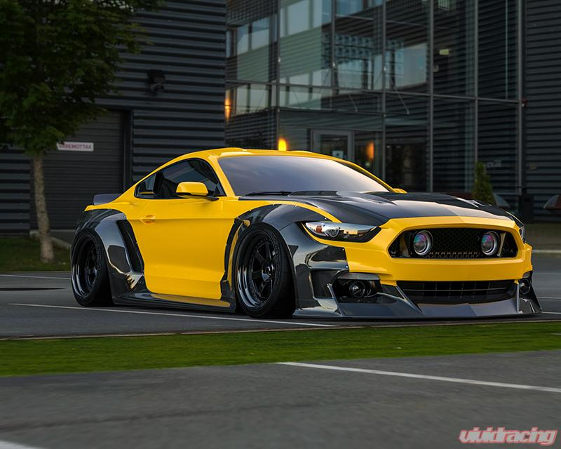 clinched flares carbon widebody kit without ducktail spoiler ford mustang s550 gt gt350 ecoboost v6 2015 2020 s550 cf wd clinched flares carbon widebody kit without ducktail spoiler ford mustang s550 gt gt350 ecoboost v6 2015 2020
